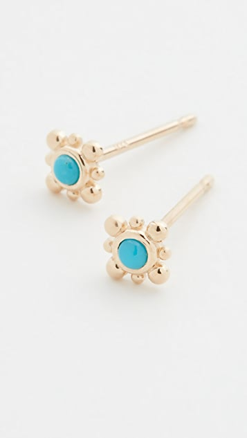 Zoe Chicco 14k Gold Tiny Bead Starburst Studs