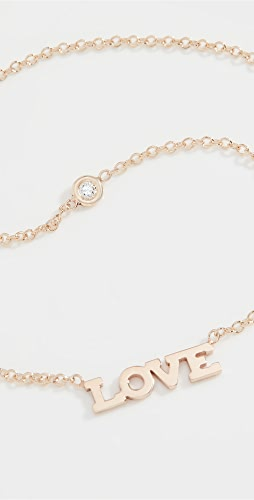 Zoe Chicco - 14k Gold Love Necklace