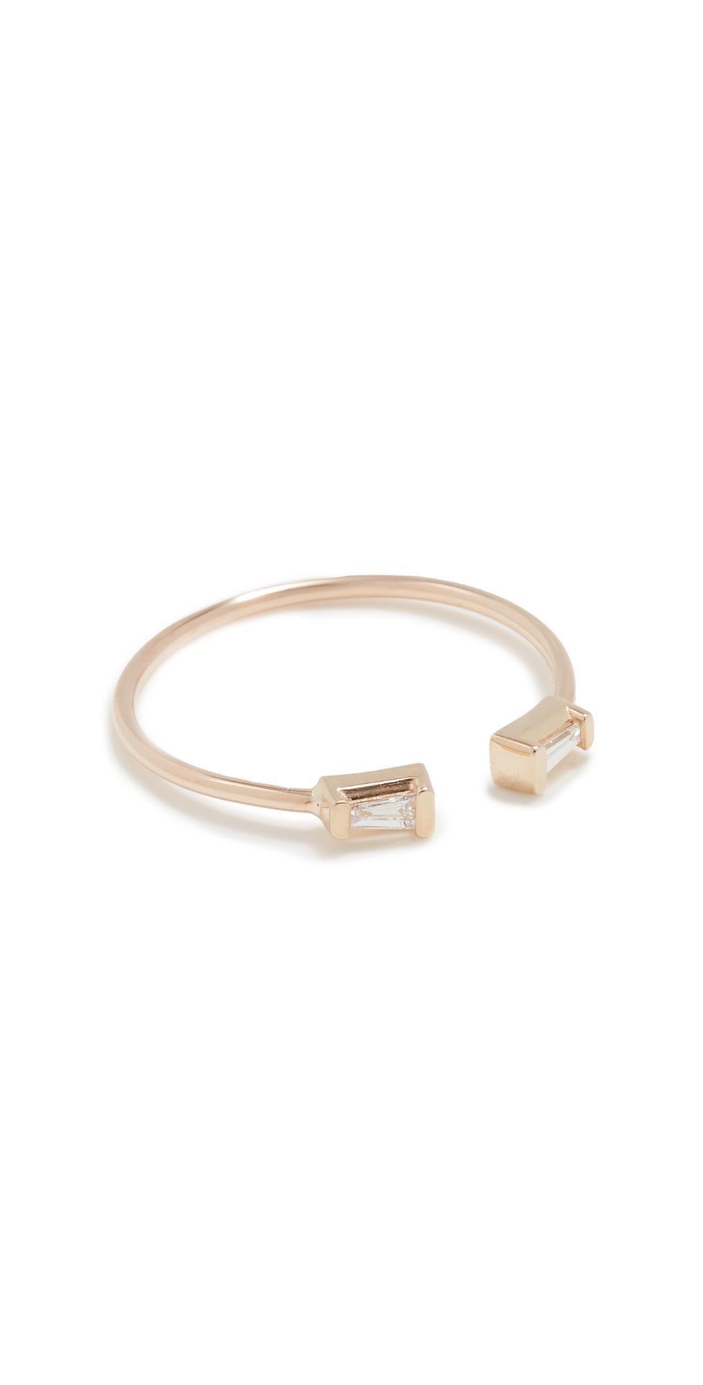 Zoë Chicco Baguette Diamonds Ring In Gold