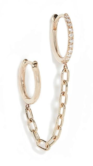 Zoe Chicco Pave Diamond Chain Earring