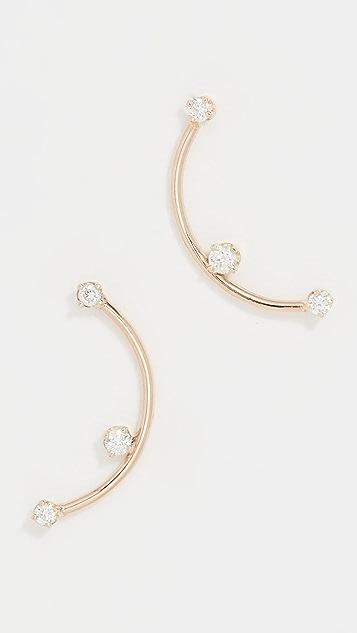 Zoe Chicco 爪镶钻石耳环