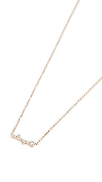 Zoe Chicco Prong Diamonds Necklace