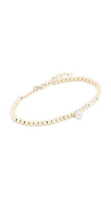 Zoe Chicco White Pearl Bracelet