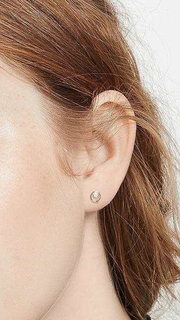 Zoe Chicco 白色珍珠耳环
