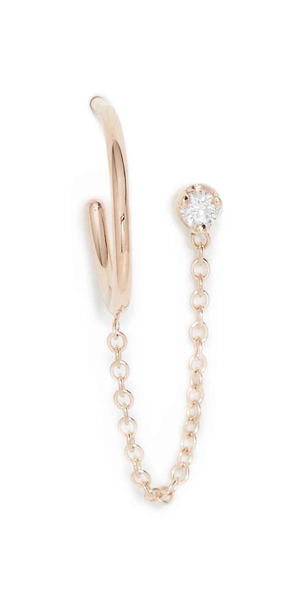 Zoë Chicco Prong Diamond Earring In Gold