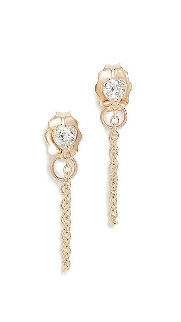 Zoe Chicco Prong Diamond Earrings