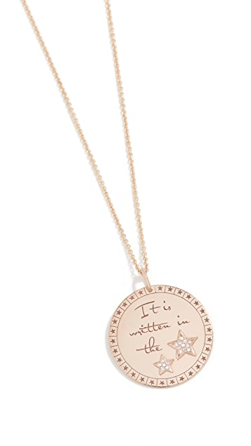 Zoe Chicco Mantra Charm Necklace