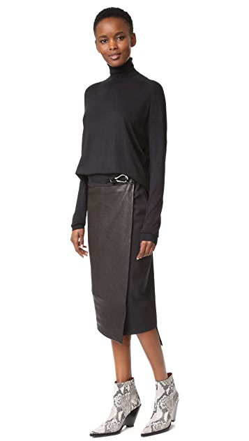 Zero + Maria Cornejo Long Wrap Skirt