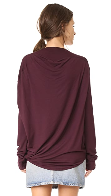 Zero + Maria Cornejo Long Sleeve Side Drape Top