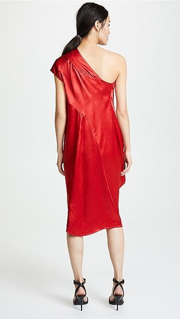 Zero + Maria Cornejo One Shoulder Loop Dress