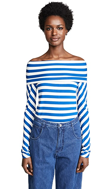 Zero + Maria Cornejo Mio Off Shoulder Top