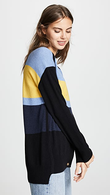 Zero + Maria Cornejo Stripe Cashmere Cardigan