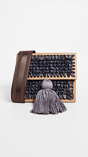0711 Copacabana Clutch - Blue/Brown/Lavender