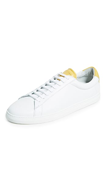 Zespa ZSP 4 APLA WHITE Leather Sneakers