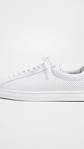 Zespa Perforated Laceup Sneakers