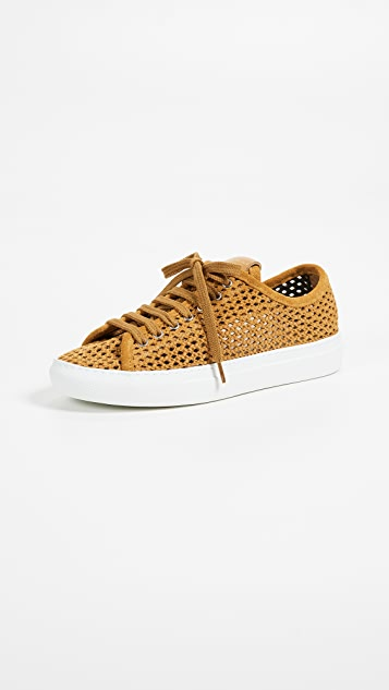 Zespa Perforated Lace Up Sneakers