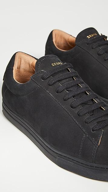 Zespa ZSP4 Monochrome Nubuck Sneakers