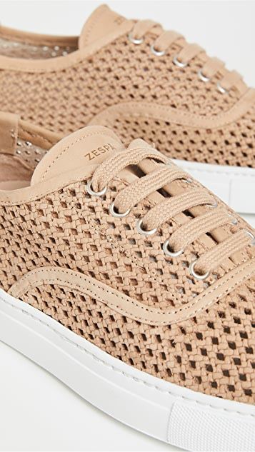 Zespa ZSP8 Perforated Nubuck Sneakers