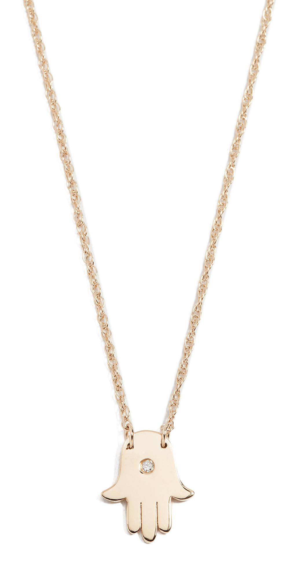Mini Hamsa Diamond Necklace