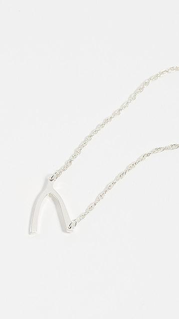 Jennifer Zeuner Jewelry Небольшое колье с кулоном в виде рогатки