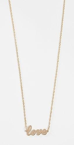 Jennifer Zeuner Jewelry - Cursive LOVE 项链