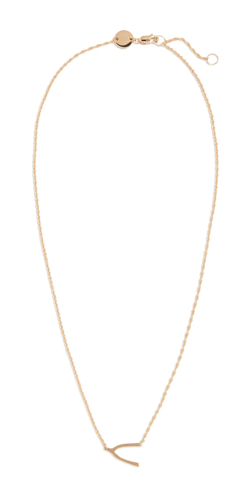 Mini Wishbone Necklace