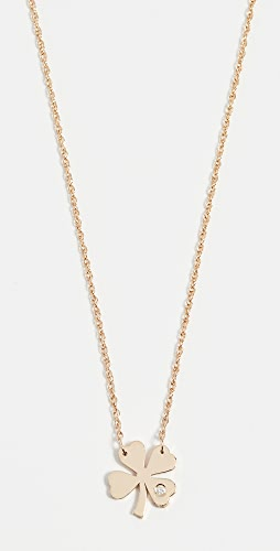 Jennifer Zeuner Jewelry - Clover Necklace with Diamond