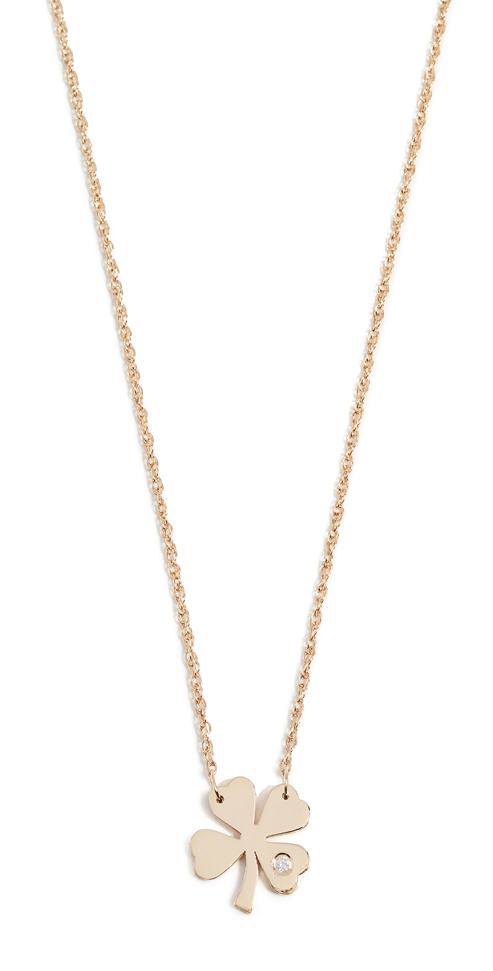 Clover Necklace with Diamond