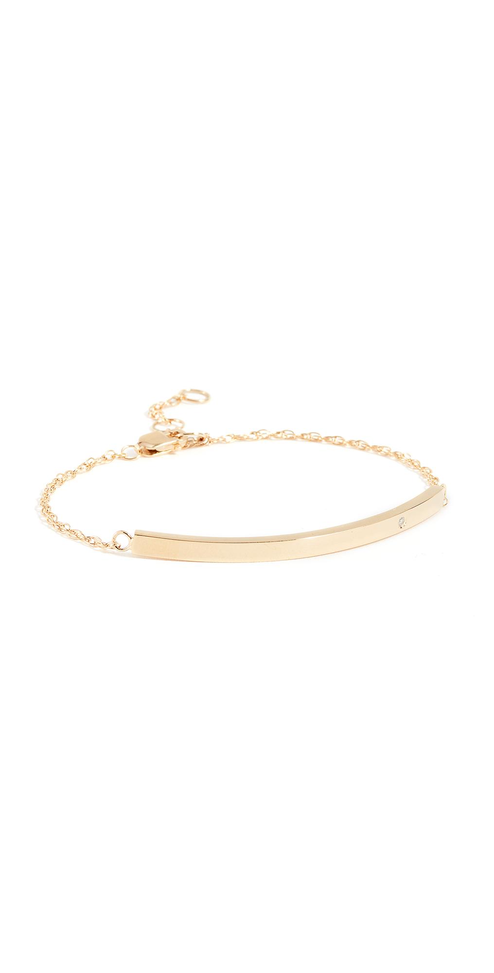 Horizontal Bar Bracelet with Diamond
