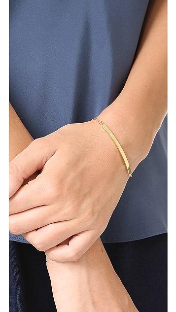 Jennifer Zeuner Jewelry Horizontal Bar Bracelet with Diamond