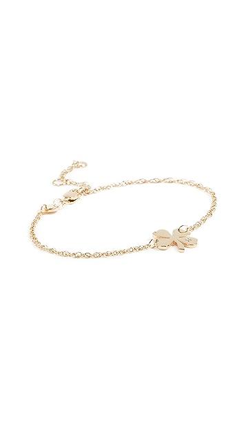 Jennifer Zeuner Jewelry Тонкий браслет с листом клевера