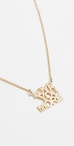 Jennifer Zeuner Jewelry - Love You More 项链