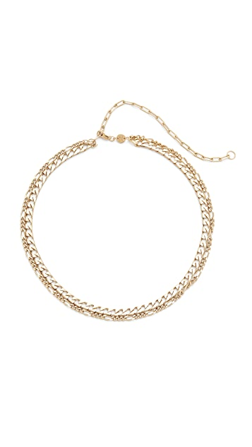 Jennifer Zeuner Jewelry Amanda Double Chain Choker Necklace