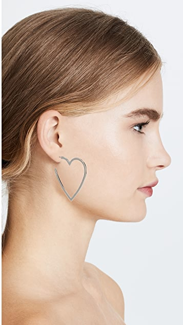 Jennifer Zeuner Jewelry Larissa Medium Heart Hoop Earrings