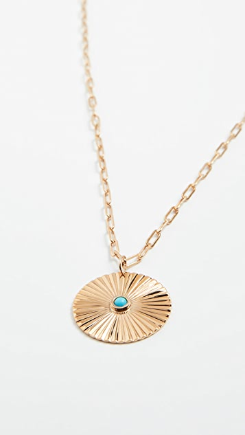 Jennifer Zeuner Jewelry Iris Turquoise Pendant Necklace