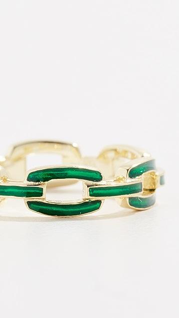 Jennifer Zeuner Jewelry Кольцо с эмалью Carmine
