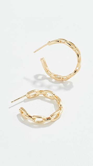 Jennifer Zeuner Jewelry Carmine Hoop Earrings
