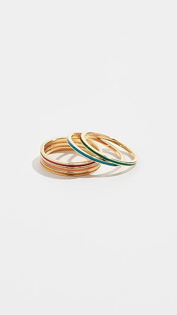Jennifer Zeuner Jewelry Primary Rae Enamel Ring Set
