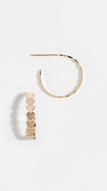 Jennifer Zeuner Jewelry Миниатюрные серьги-кольца Dream