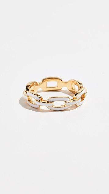 Jennifer Zeuner Jewelry Carmine Enamel Ring