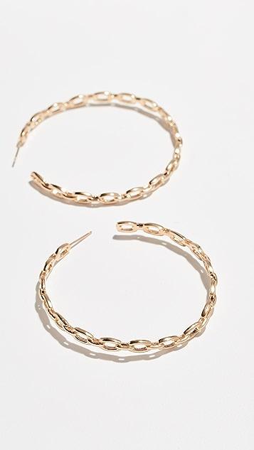 Jennifer Zeuner Jewelry Carmine Medium Hoop Earrings