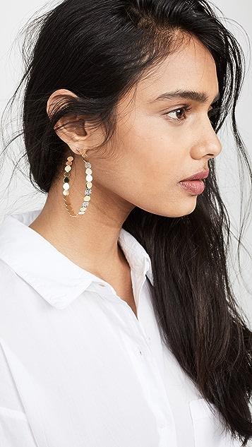Jennifer Zeuner Jewelry Bianca Hoop Earrings
