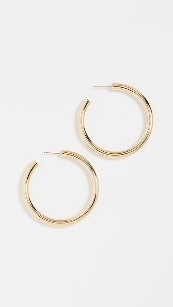 Jennifer Zeuner Jewelry Серьги-кольца среднего размера Lou