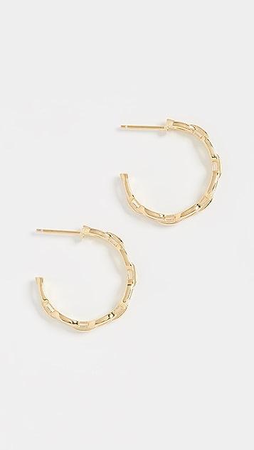 Jennifer Zeuner Jewelry Небольшие серьги-кольца Carmine