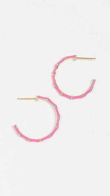 Jennifer Zeuner Jewelry Donna 珐琅圈式耳环