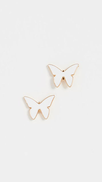 Jennifer Zeuner Jewelry Миниатюрные эмалевые серьги Mariah
