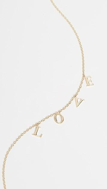 Jennifer Zeuner Jewelry Колье Tara LOVE