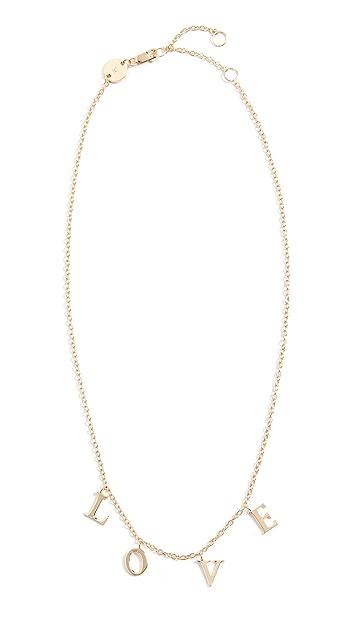 Jennifer Zeuner Jewelry Tara LOVE Necklace