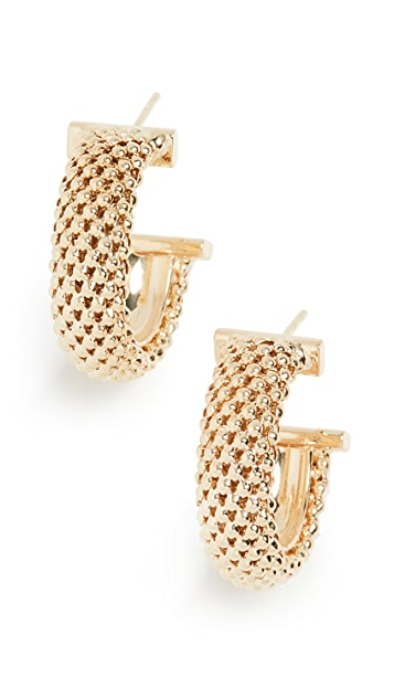 Jennifer Zeuner Jewelry Lucia Hoop Earrings