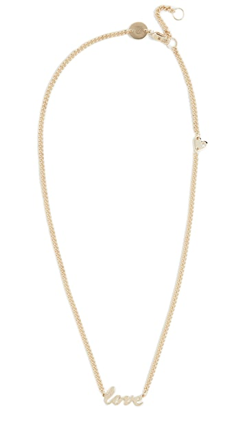 Jennifer Zeuner Jewelry Curb Abigail Heart Necklace